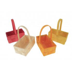 Koszyki wielkanocne kolorowe grubo przeplatane prostokątne