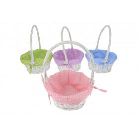 Koszyk wielkanocny wiklinowy różne kolory
