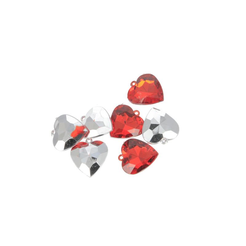 Декоративные сердечки из искуственных материалов WWW1042