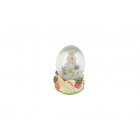 Figurka zając w kuli śnieżnej