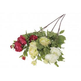 Искусственные цветы: пионии веточка