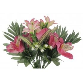 Kwiaty sztuczne bukiet storczyk mix