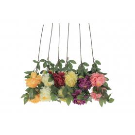 Kwiaty sztuczne gałązka piwoni