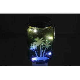 Szklany lampion 5xled 8x13,5 cm