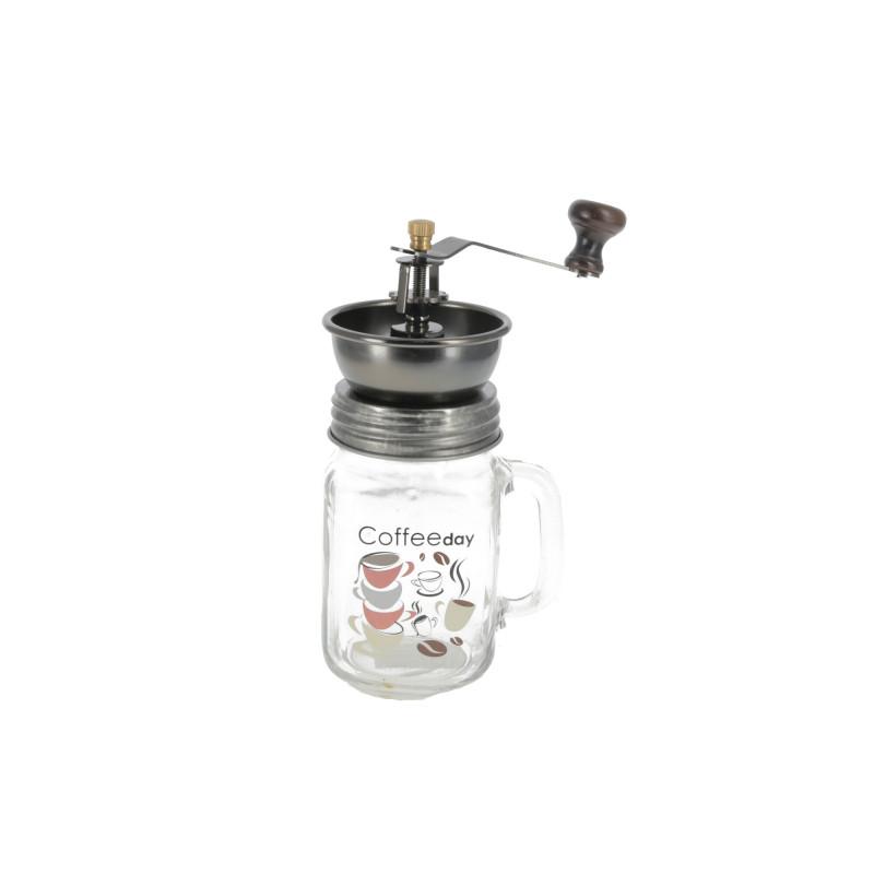 Szklany młynek do kawy mechanizm