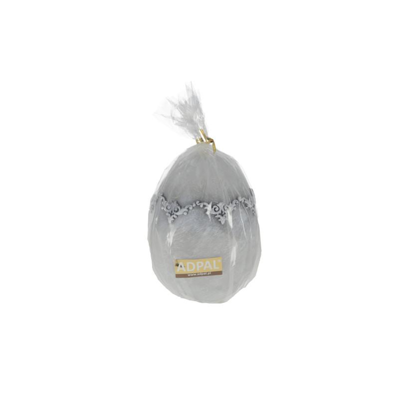 Świeca jajko 140/100 marmur II matowa