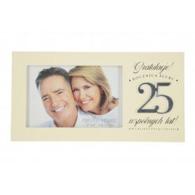 Szklana ramka Harmony 25-rocznica