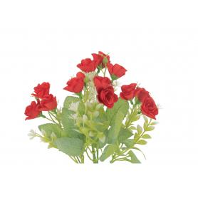 Kwiaty sztuczne różyczki małe w bukiecie