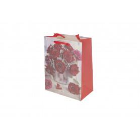 Papier torebka - Róże 18x23x8cm