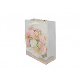 Papierowa torebka - Kwiaty 26x32x12cm