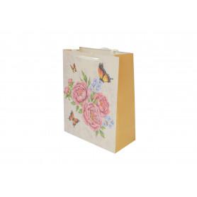 Papier torebka barokowe kwiaty 26x32x10
