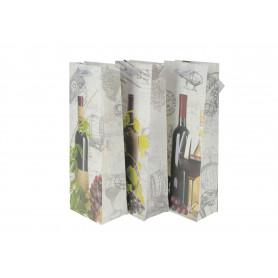 Papier torebka ozdobna na wino 12x36x9cm