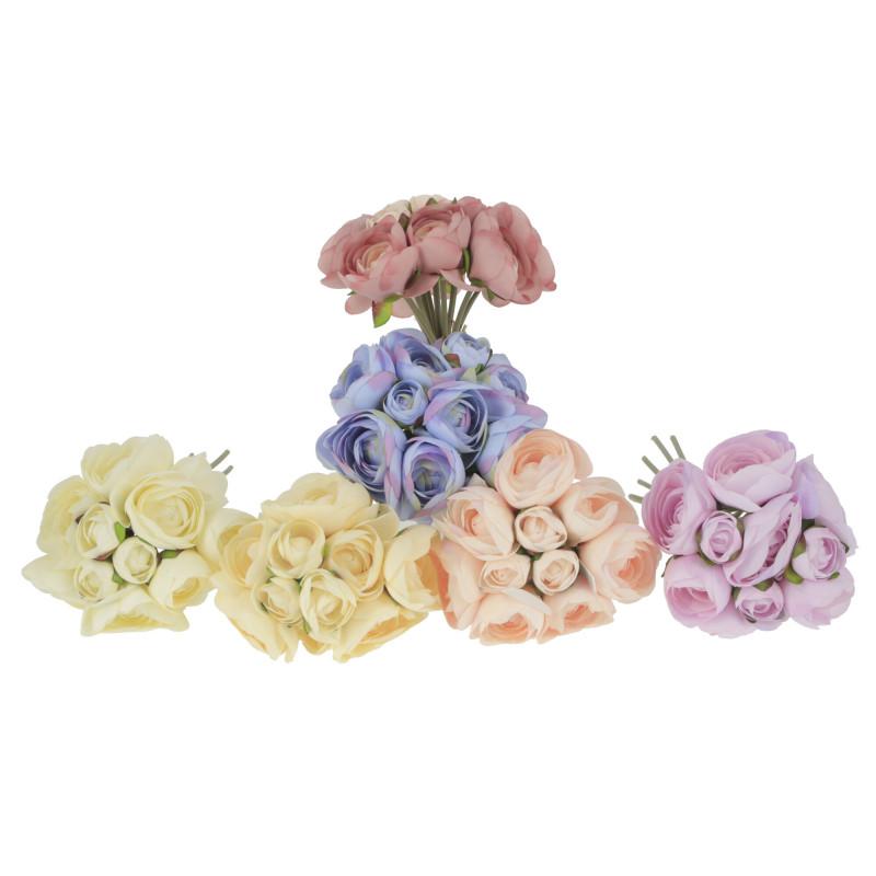 Kwiaty sztuczne bukiet pełnik x12