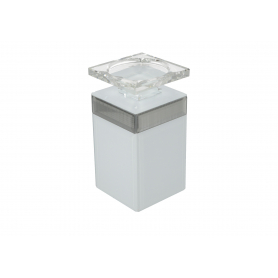 Świecznik lustrzany 9x9x17,5 cm