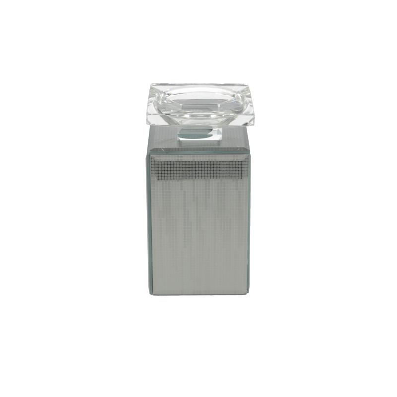 Świecznik lustrzany 9x9x17,5CM