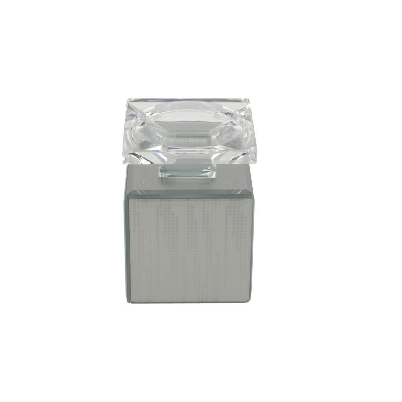 Świecznik lustrzany 9x9x12,5CM