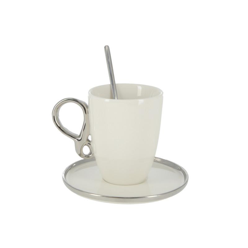 Ceramiczna filiżanka ze spodkiem 220ml