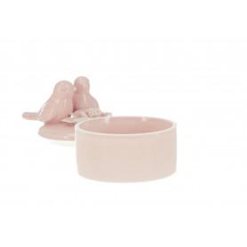 PUDEŁKO ZDOBIONE PTASZKAMI (ceramiczne)