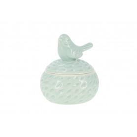 PUDEŁKO ZDOBIONE PTASZKIEM (ceramiczne)