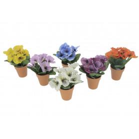 Kwiaty sztuczne bratek w doniczce