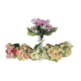 Kwiaty sztuczne bukiet róży z anemonem