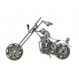 Metalowy motocykl z zegarem 22 cm