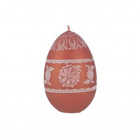 Świeca jajko duże drukowane za ludowo