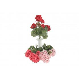 Kwiaty sztuczne bukiet pelargonia