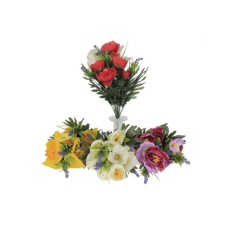 Kwiaty sztuczne bukiet piwonia z kalla