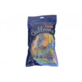 Balony Strong Pastel Mix, średnica 23 cm