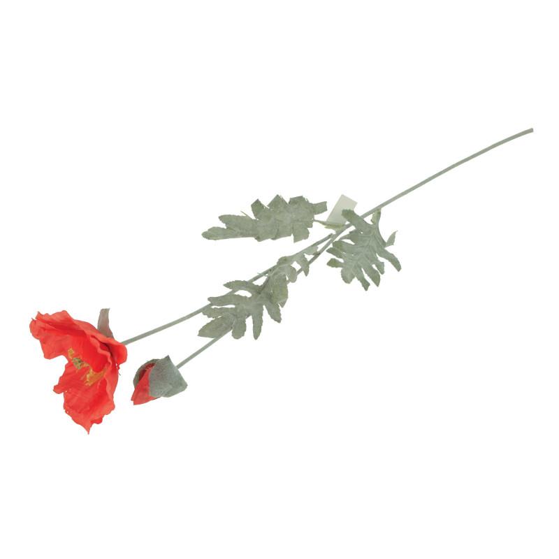 Kwiaty sztuczne mak pojedyńczy
