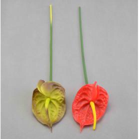 Kwiaty sztuczne: anturium pojedyncze