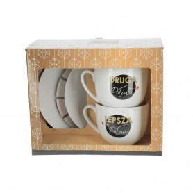 Ceramiczny zestaw filiżanek ZGRANY DUET