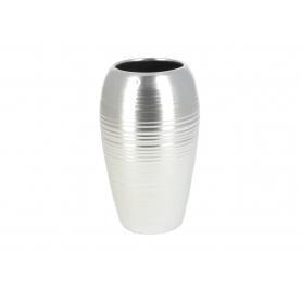 Ceramiczny wazon srebrny 15x25cm