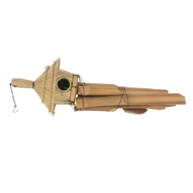Drewno gong domek owal 30cm