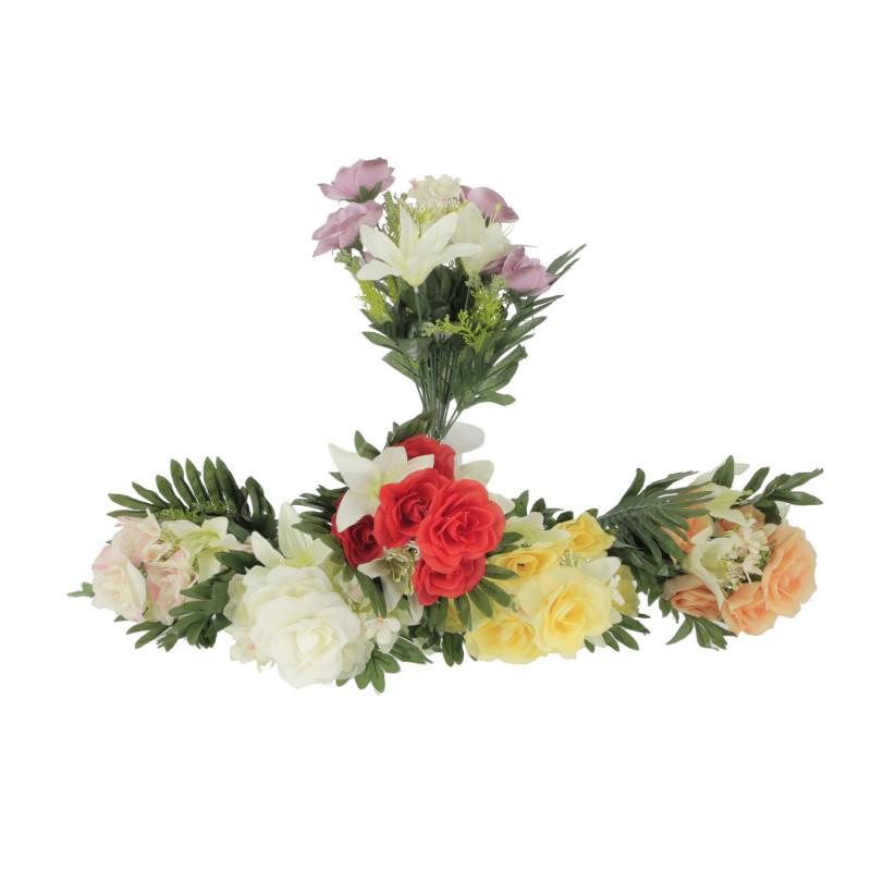 Kwiaty sztuczne bukiet lilii i róż