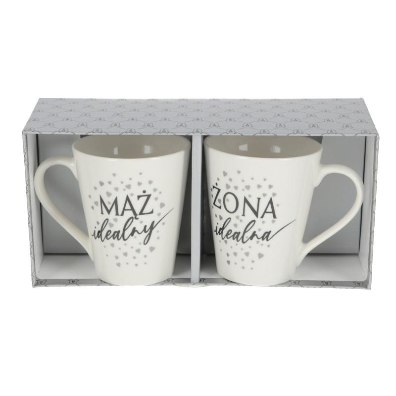 Ceramika zestaw WEDDING SILVER 290ml