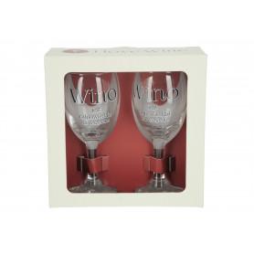 Szklany zestaw kieliszków I LOVE WINE 220ml