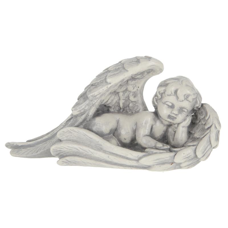 Gipsowy anioł skrzydło szary