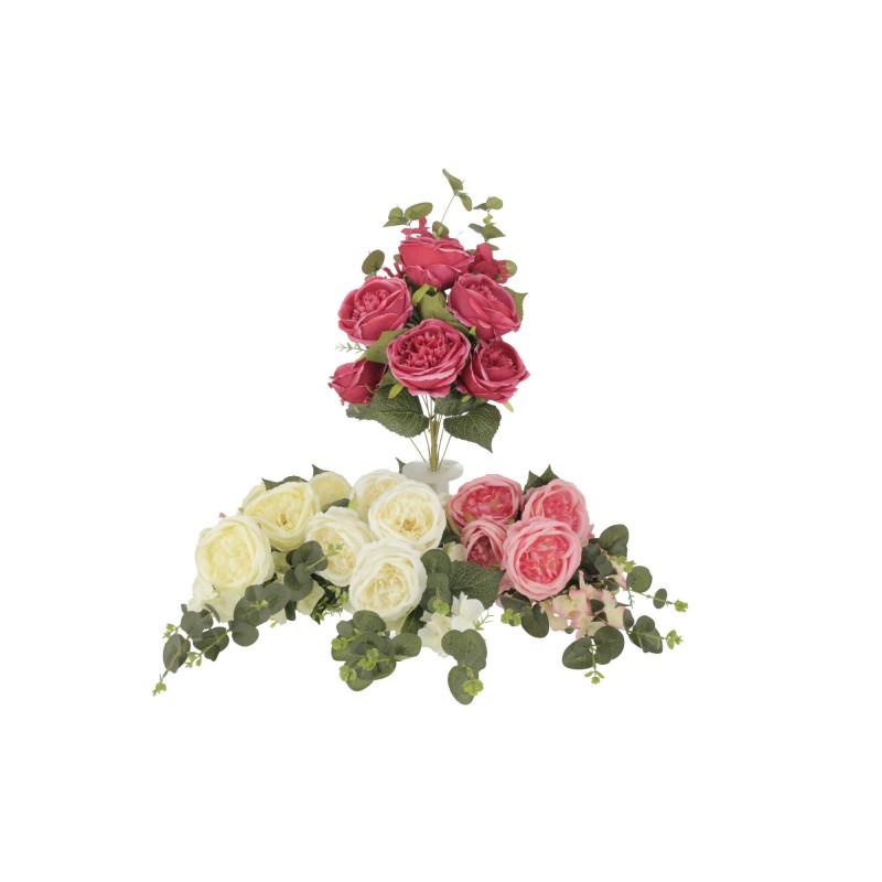 Kwiaty sztuczne kompozycja peonia