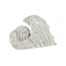 Gipsowy Anioł duży skrzydło szary