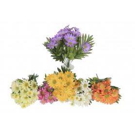 Kwiaty sztuczne bukiet margarytka x18