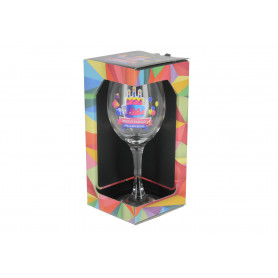 Szklany kielich wino URO GEOMETRIA 270ml