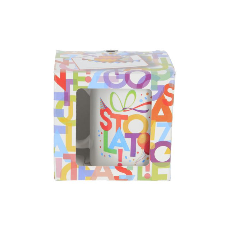 Ceramika kubek URODZINOWE LITERKI 300ml
