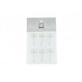 Tw.sztuczne przyklejki klucze white