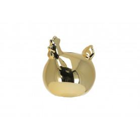 Ceramika skarbonka kurka złota
