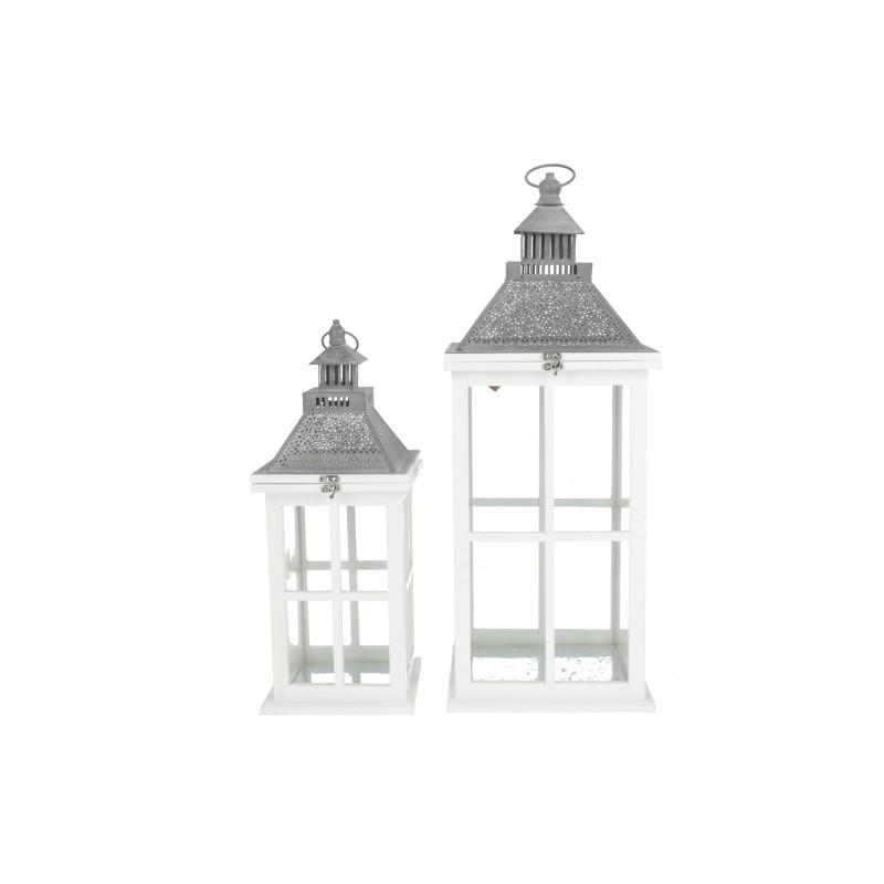 Drewniana latarnia x2