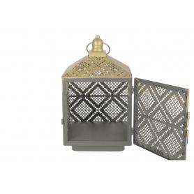 Metalowa latarnia LALI 16x16x26,5cm