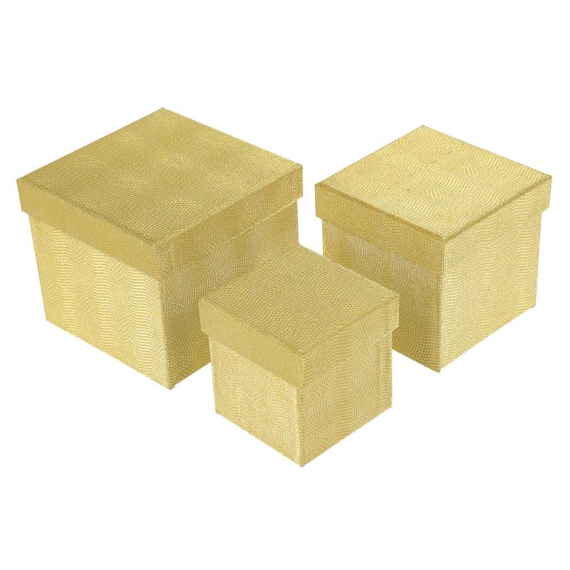 Papierowe pudełko set.3 kwadrat