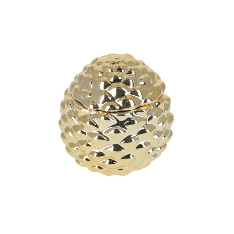 Ceramika pojemnik Szyszka złota